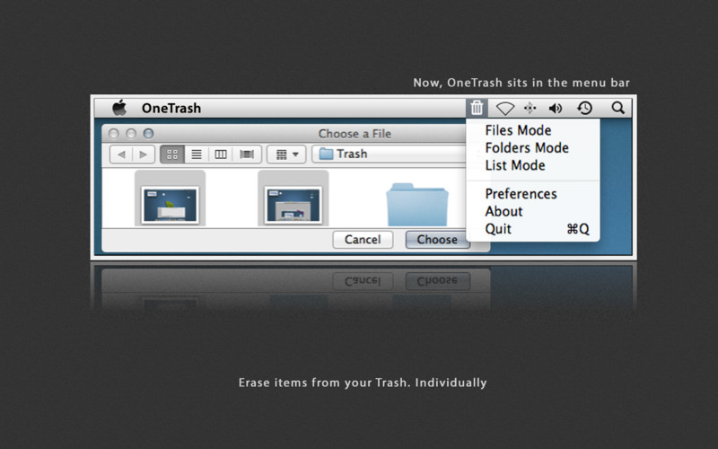 OneTrash 2.0.2 Mac software screenshot