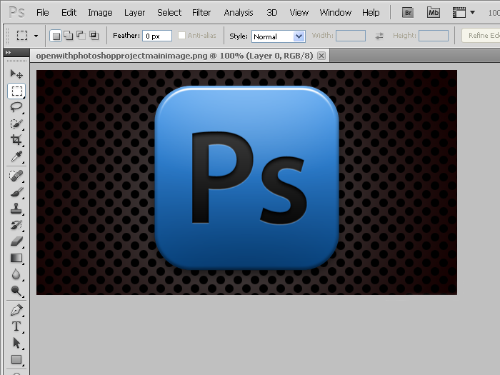 Open With Photoshop 4.4 Mac software screenshot