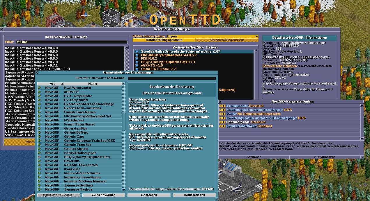 OpenTTD 1.3.3 Mac software screenshot