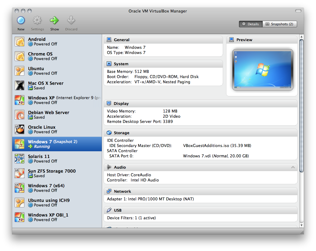 Oracle VM VirtualBox 4.3.16.95972 Mac software screenshot