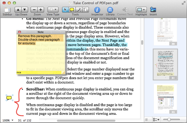 PDFpen 6.0.3 Mac software screenshot
