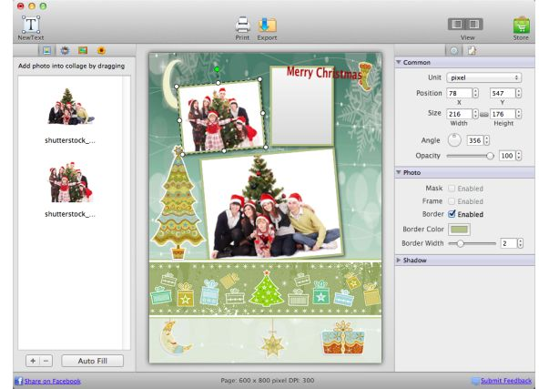 Picture Collage Maker 3.1.2 Mac software screenshot