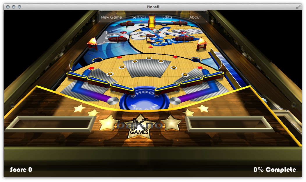 Pinball 9.1.0.0 Mac software screenshot