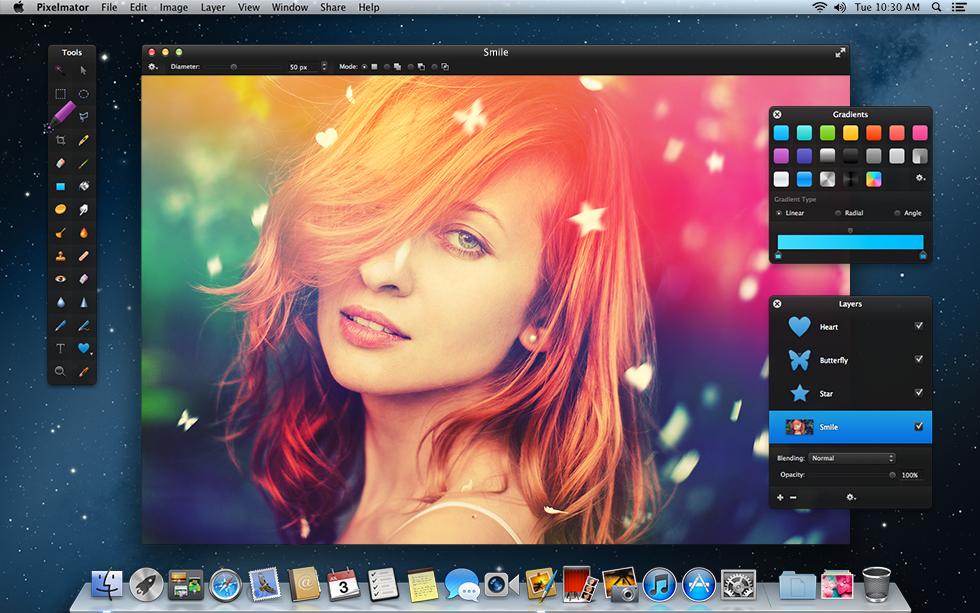 Pixelmator 3.2 Mac software screenshot