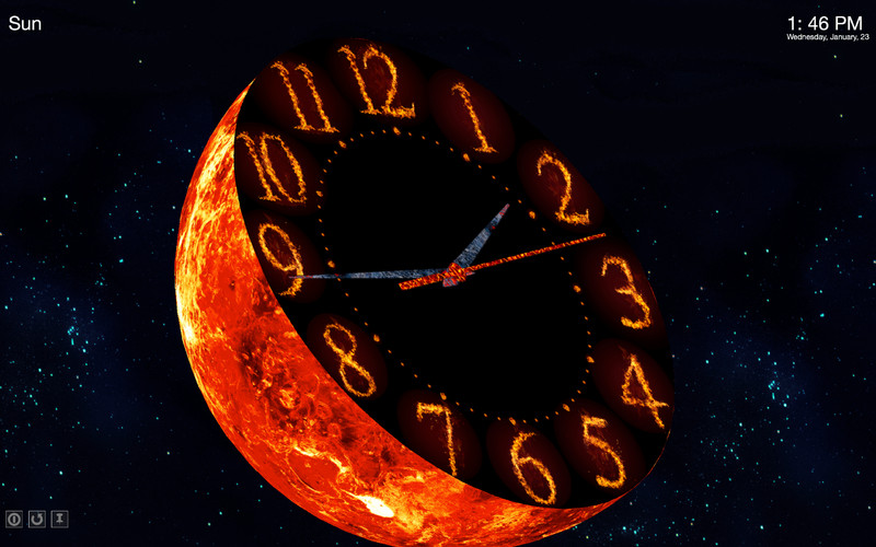 Planet Clocks 3D 1.0 Mac software screenshot