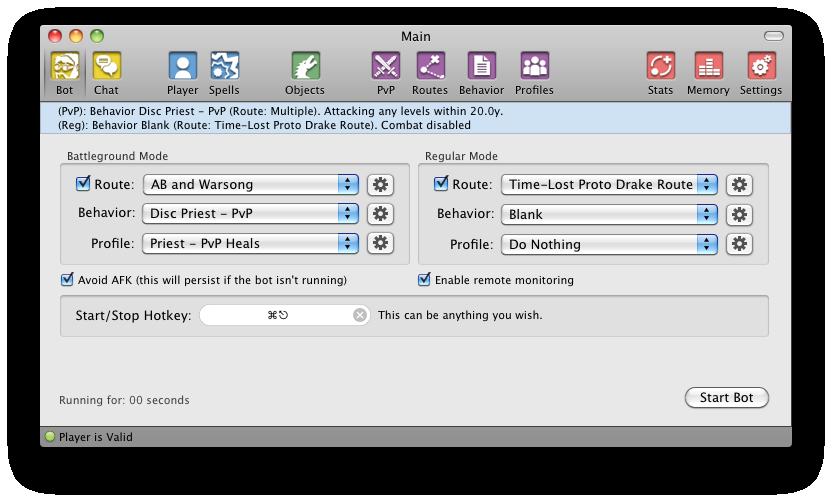 Pocket Gnome 16826.2 Mac software screenshot