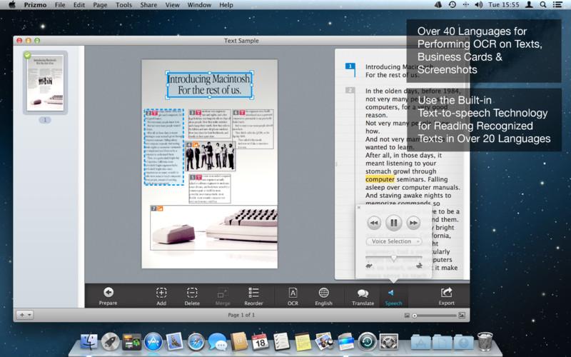 Prizmo 2.0.4 Mac software screenshot