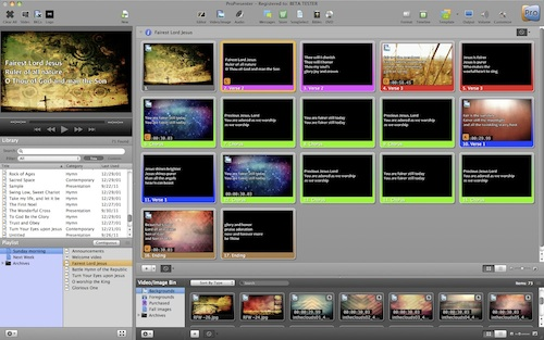 ProPresenter 5.2.7 Build 11444 Mac software screenshot