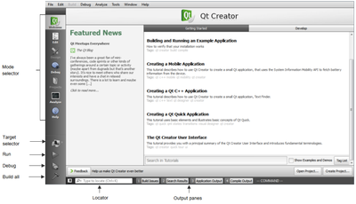 Qt Creator 3.1.2 Mac software screenshot