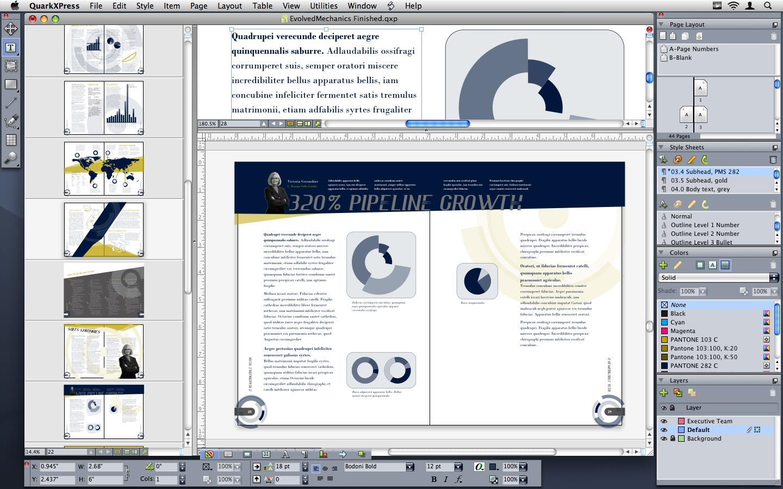 QuarkXPress 10.2.1 Mac software screenshot