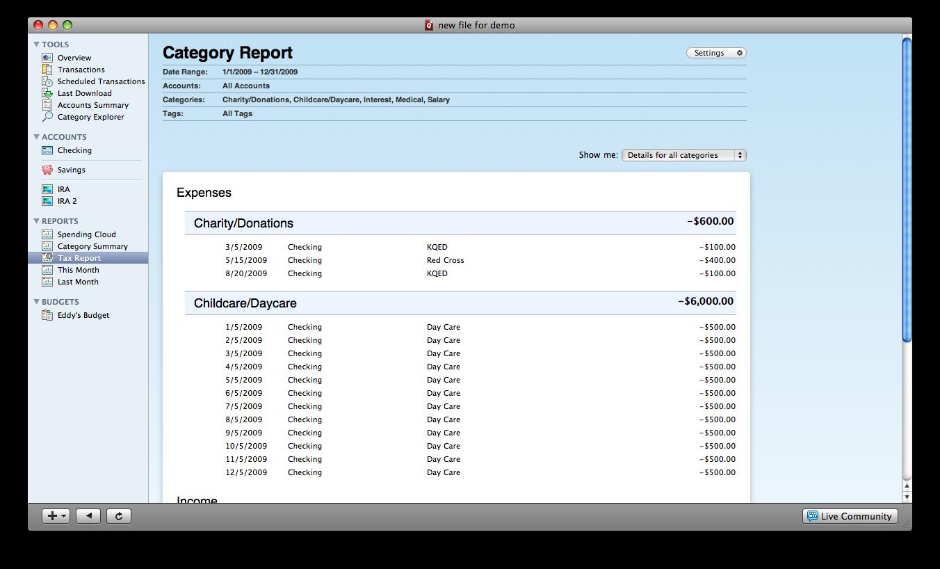 Quicken Essentials 1.7.4 Mac software screenshot