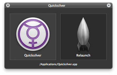 Quicksilver 1.2.0.400B Mac software screenshot