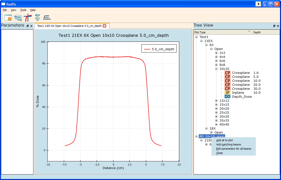 RadPy 0.1.2 Mac software screenshot