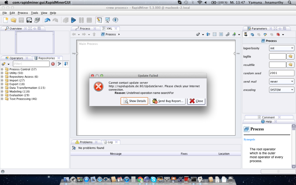 RapidMiner 5.3.013 Mac software screenshot