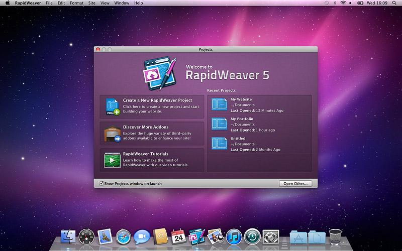 RapidWeaver 5.3.2 Build 11606 Mac software screenshot