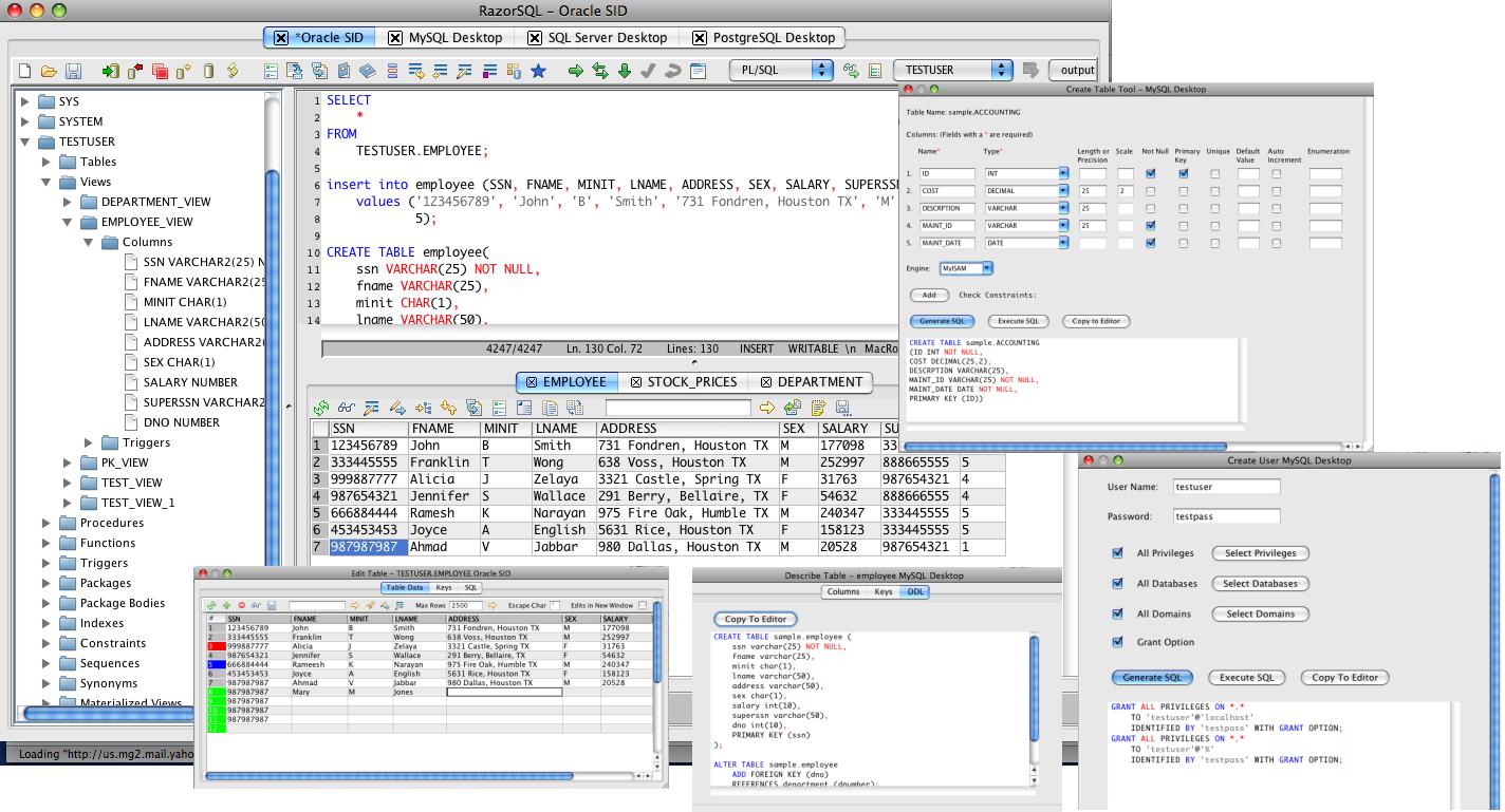 RazorSQL 6.0.5 Mac software screenshot