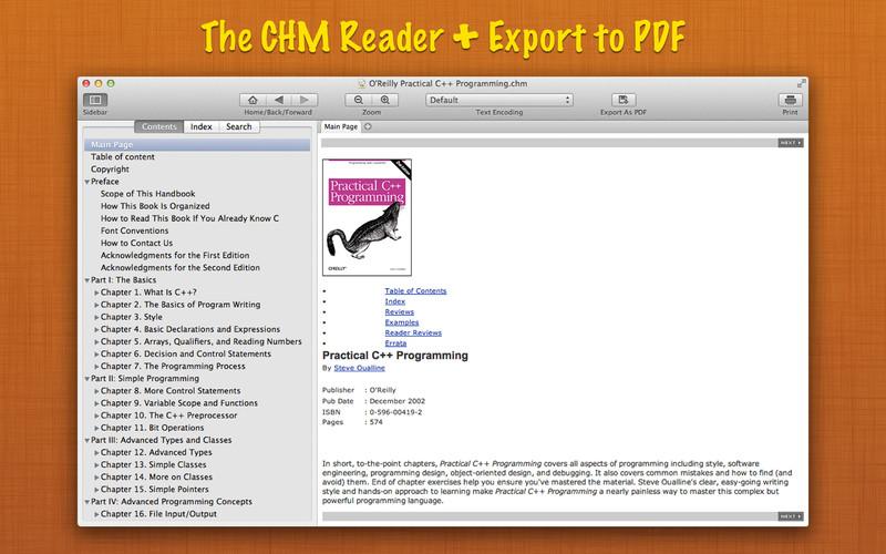 Read CHM+ 1.0 Mac software screenshot