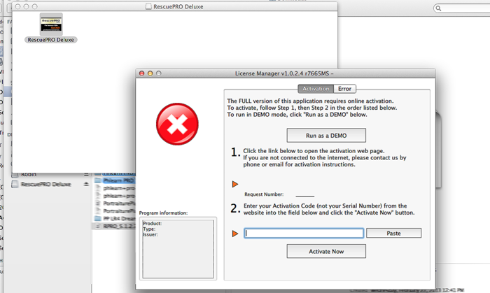 RescuePRO 4.2.4.2 Mac software screenshot