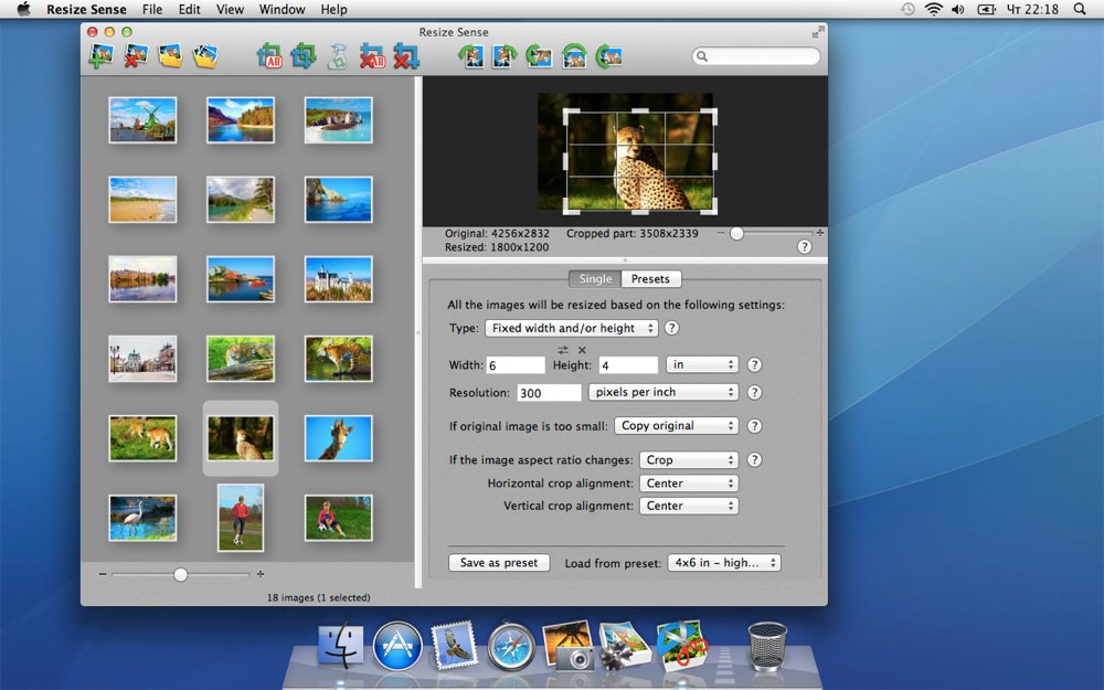 Resize Sense 1.5.1 Mac software screenshot