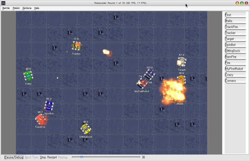 Robocode 1.9.2.1 Mac software screenshot
