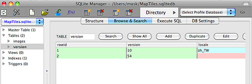 SQLite Manager 0.8.0 Mac software screenshot