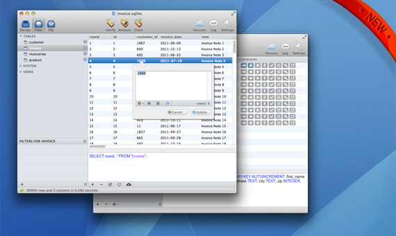 SQLiteManager 4.0.9 Mac software screenshot