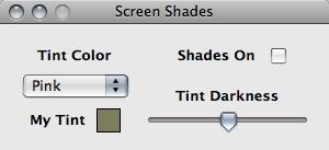 Screen Shades 1.2.1 Mac software screenshot
