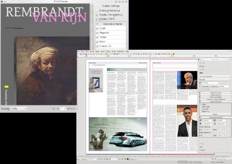 Scribus 1.4.4 Mac software screenshot
