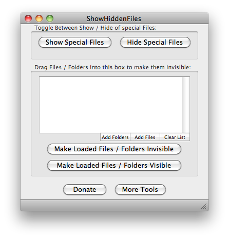 Show All Files 2.0.4 Build 61 Mac software screenshot