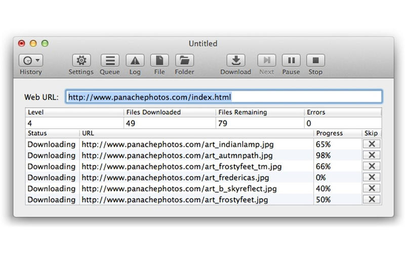 SiteSucker 2.5.3 Mac software screenshot