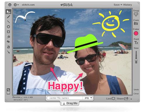 Skitch 2.7.2 Build 263461 Mac software screenshot