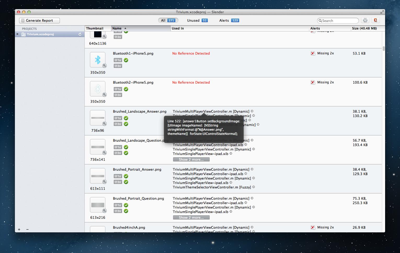 Slender 2.1.1 Mac software screenshot