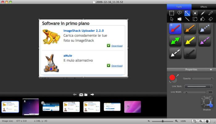 Snagit 3.2.0 Mac software screenshot