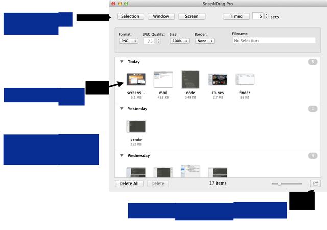 SnapNDrag 3.0.1 Mac software screenshot