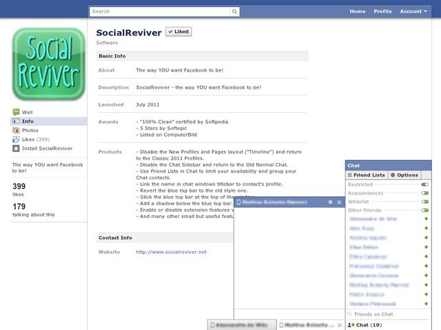 SocialReviver 4.4 Mac software screenshot