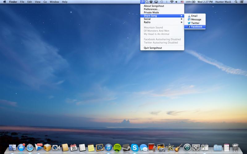 Songshout 1.1 Mac software screenshot