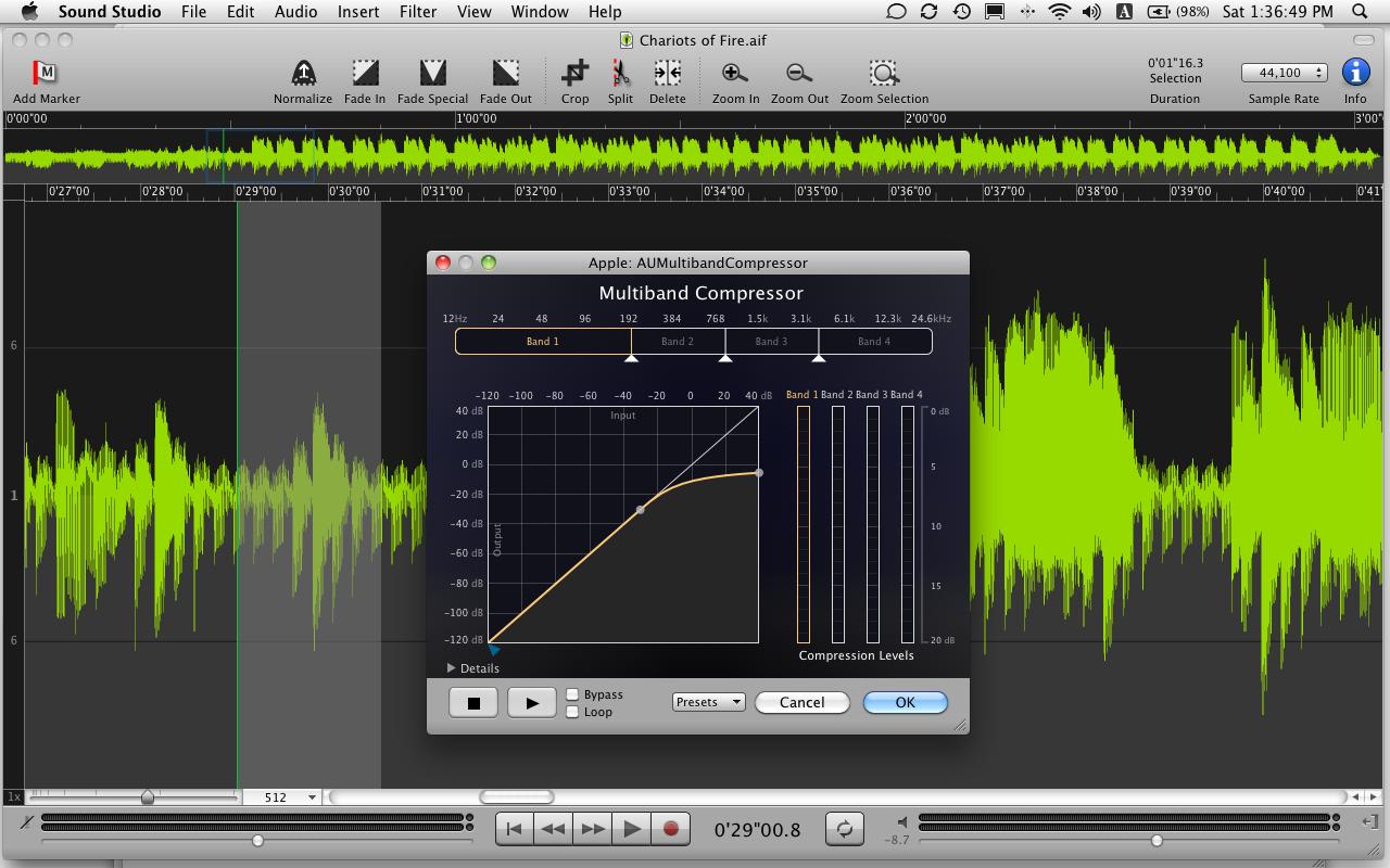 Sound Studio 4.7.0 Mac software screenshot