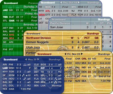 Sports Fan Widget 1.3.59 Mac software screenshot