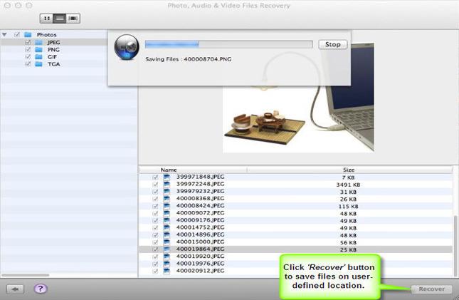 Stellar Phoenix Photo Recovery 6.0 Mac software screenshot