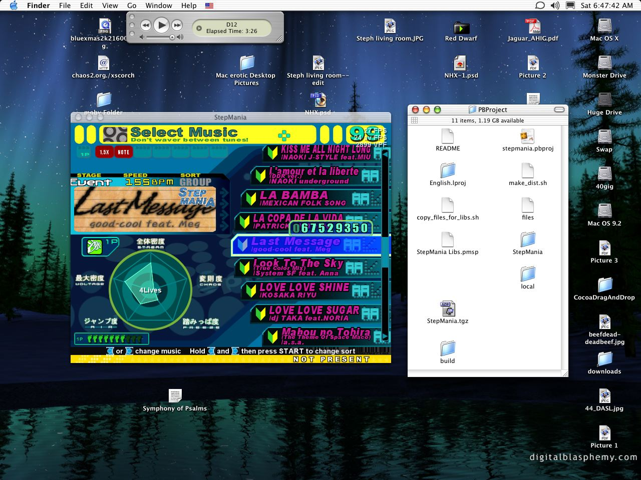 StepMania 4.0 Mac software screenshot