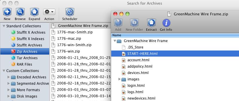StuffIt 2011 15.0.7 Mac software screenshot
