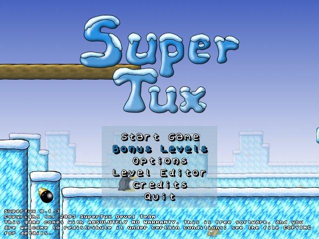 SuperTux 0.1.3 Mac software screenshot