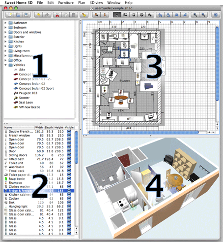 Sweet Home 3D 4.4.1 Mac software screenshot