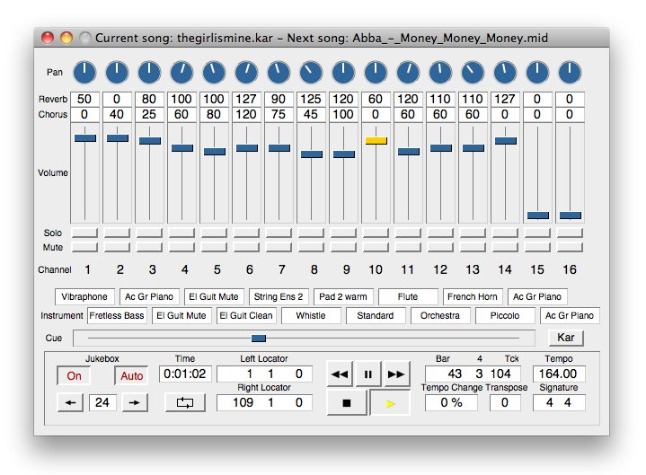 Sweet MIDI Player 2.6.2 Mac software screenshot