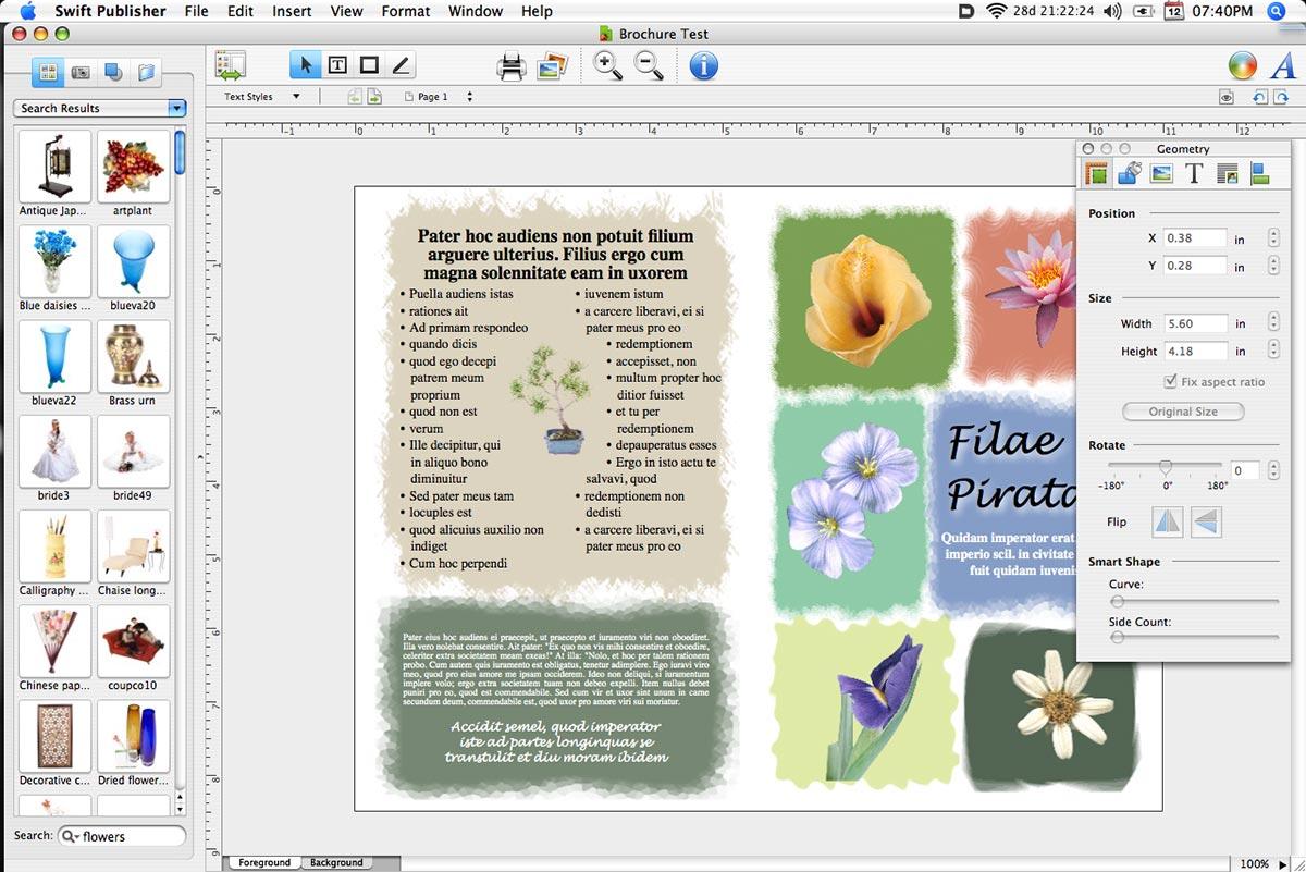 Swift Publisher 3.3.5 Mac software screenshot