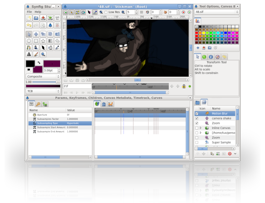 Synfig Studio 0.64.1 Mac software screenshot