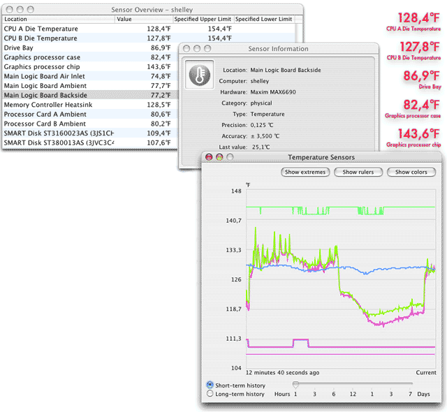 Temperature Monitor 4.98 Build 130919 Mac software screenshot