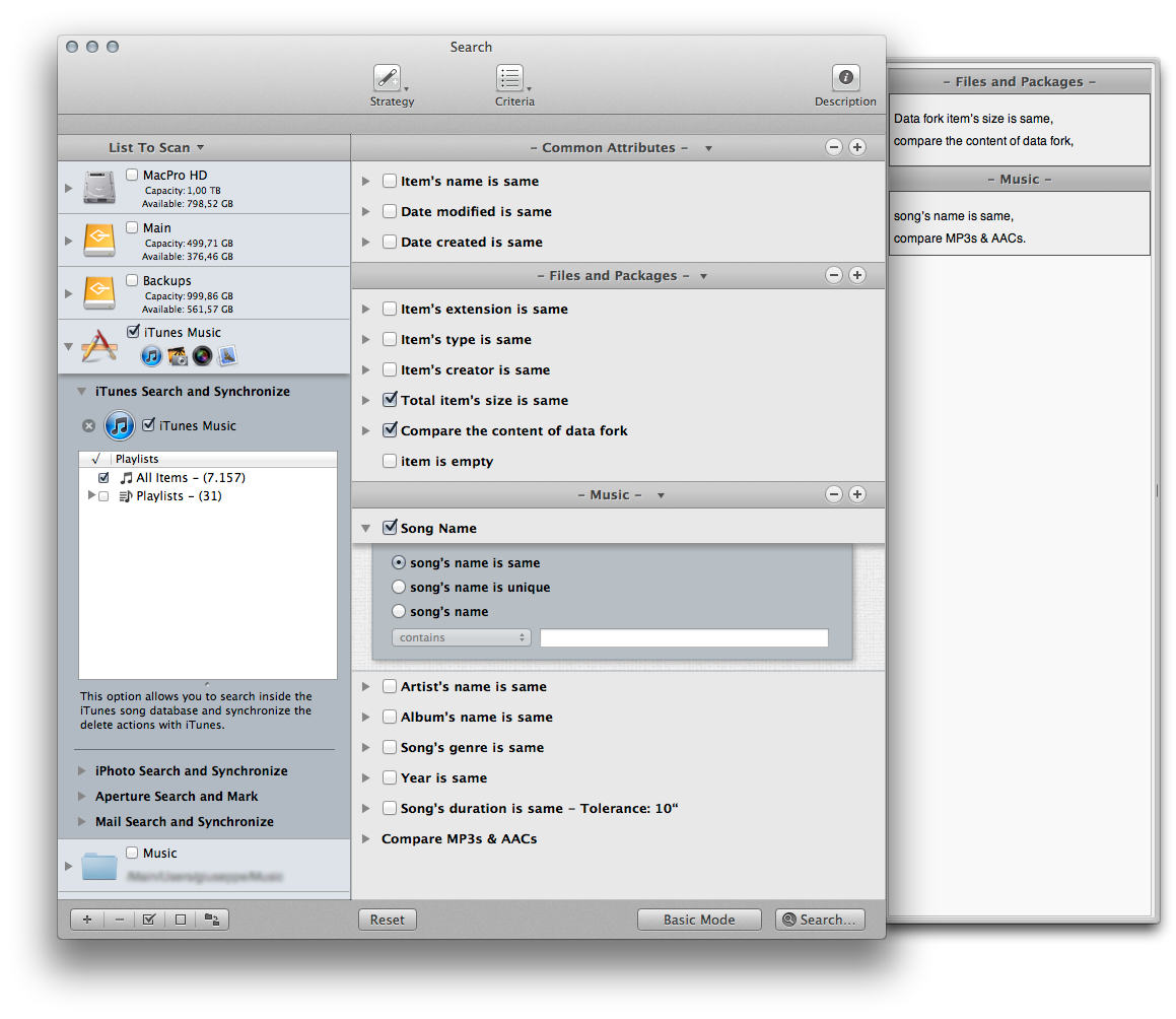 Tidy Up! 3.0.14 Mac software screenshot