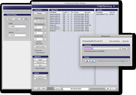 TimeFactory 2.5.1 Mac software screenshot