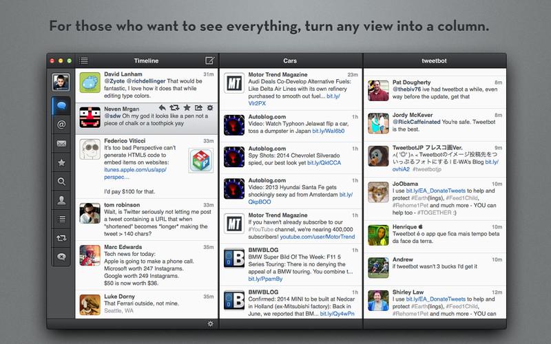 Tweetbot 1.2.1 Mac software screenshot